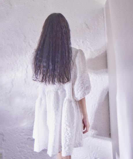Jacquard  mini dress WHITE