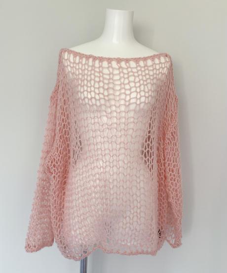 handmade mohair knit PINK