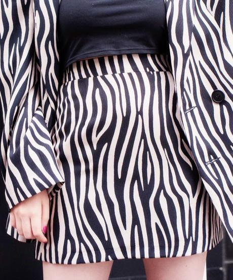 basic mini skirt ZEBRA