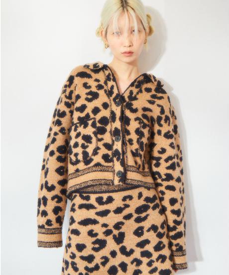 leopard knit jacket