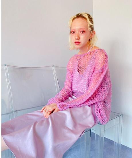 handmade mohair knit PURPLE