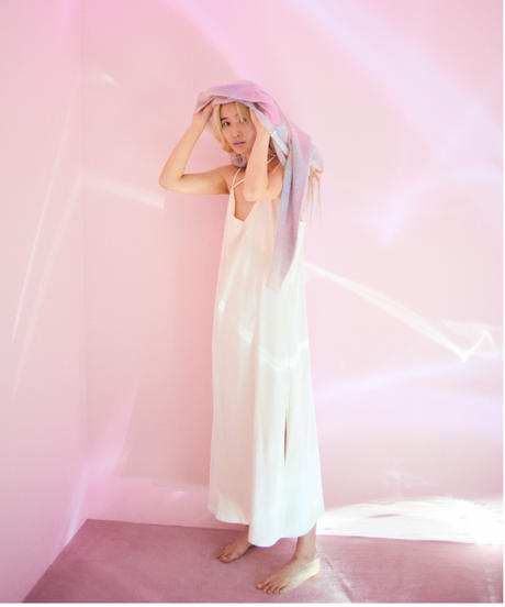 long cami dress WHITE