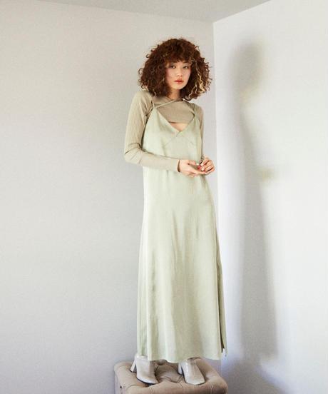 long cami dress GREEN