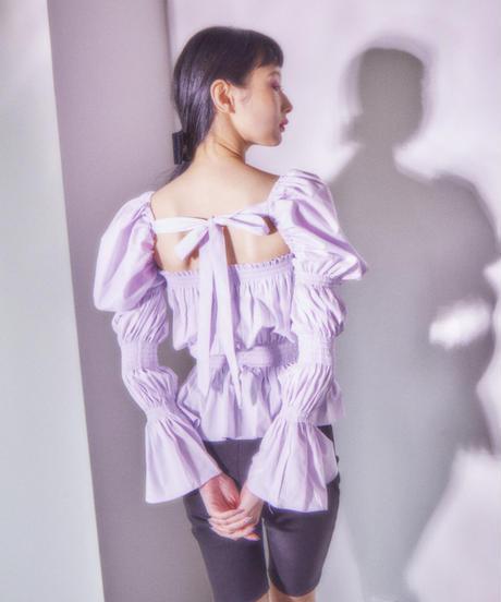 sleeve conscious blouse PURPLE