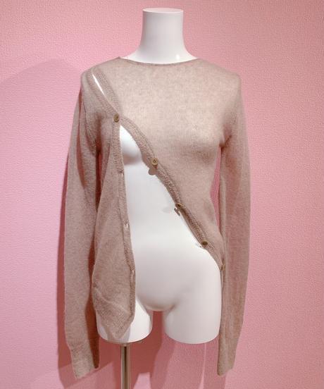 bias button knit BEIGE
