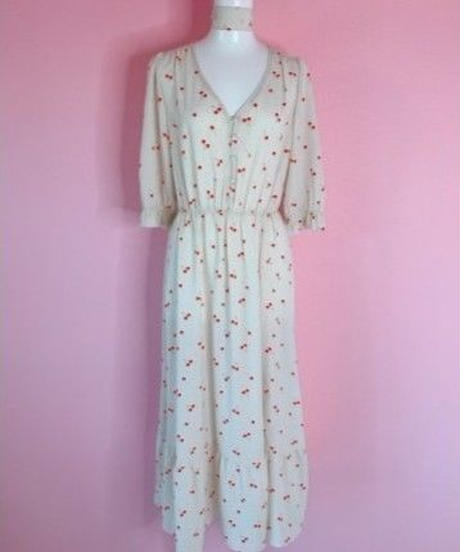 scarf set dress IVORY CHERRY