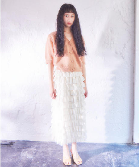 frill long skirt IVORY