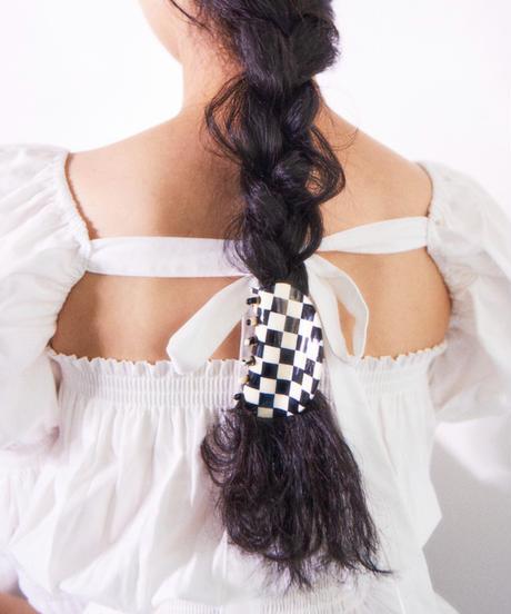 checkered flag hair clip