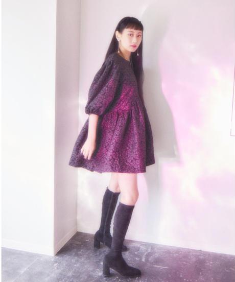 Jacquard  mini dress BLACK