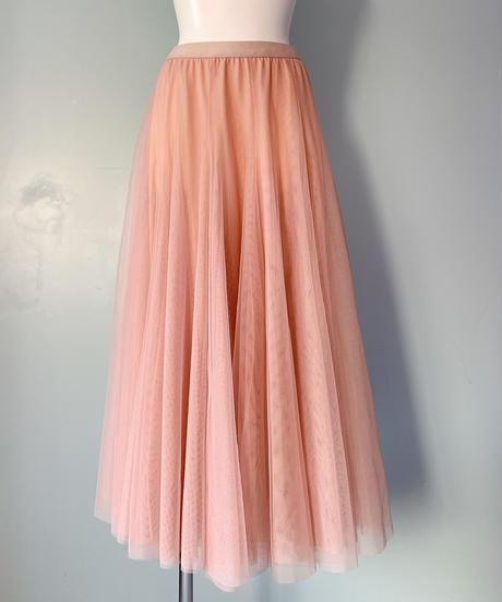 tulle long skirt PINK