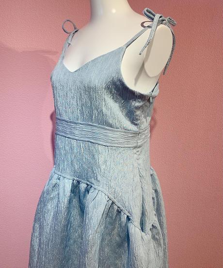 ribbon cami dress BLUE