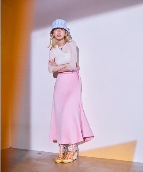pastel  satin skirt PINK
