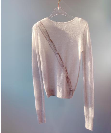 bias button knit LIGHT GRAY