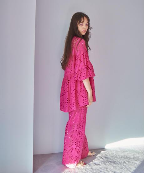 lace short dress PINK