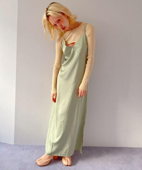 long cami dress GREEN