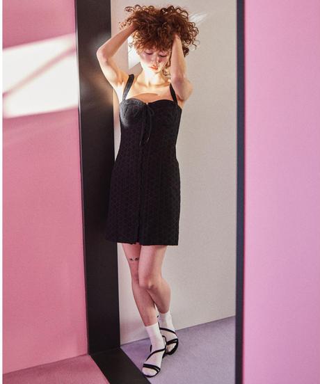 lace corset dress BLACK