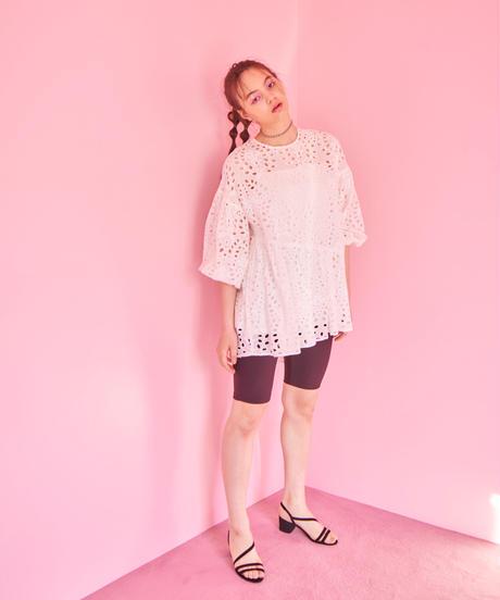 lace short dress WHITE