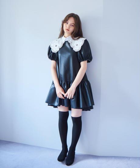 faux lather dress