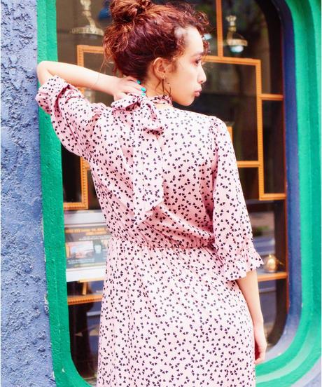 scarf set dress PINK HEART