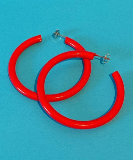 color hoop pierce RED