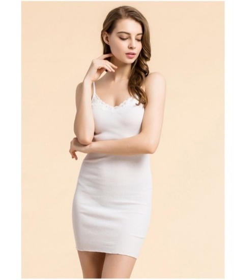 TA-034 Silk Cotton Slip Dress