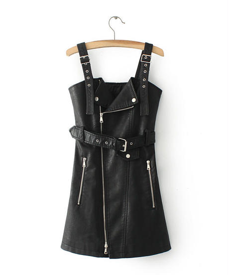 TA-019 Trench Strap Dress (3collar)