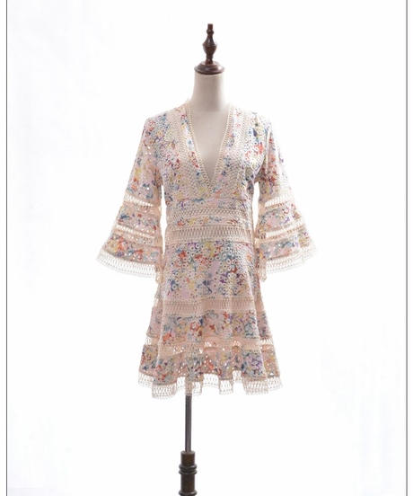 TA-030 Flower Basket Sweet Bohemian  Dress