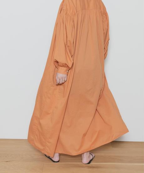 MY031 ロングシャツワンピース(オレンジ)