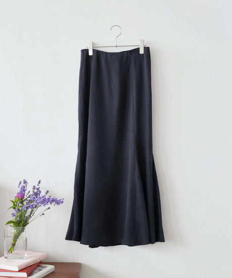 MY038 フレアマキシスカート(ネイビー)
