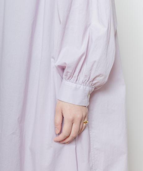 MY031 ロングシャツワンピース(パープル)
