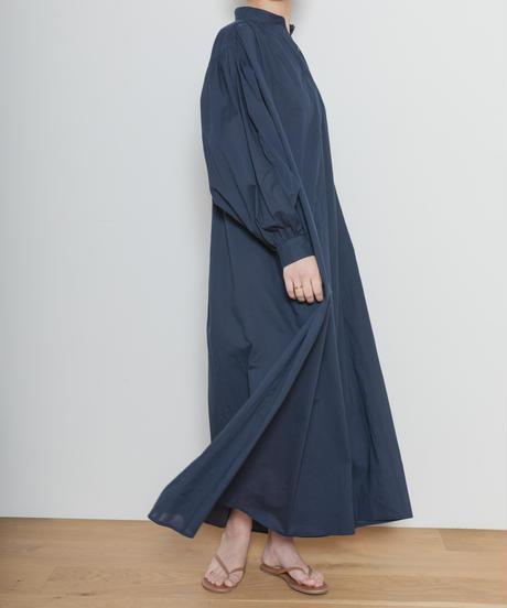 MY031 ロングシャツワンピース(ネイビー)