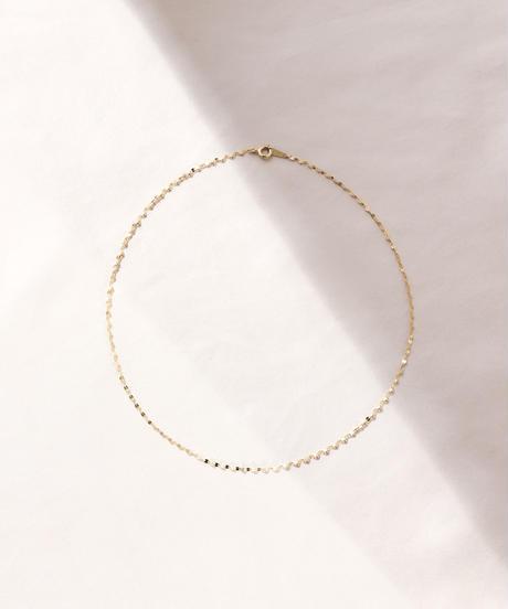 【予約商品】MY014 ペタルチェーン[38cm] K18 gold plated Silver 925