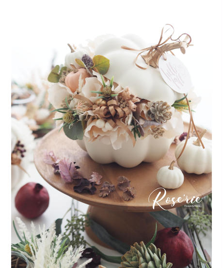 Hallo Fall2020' Pumpkin arrangement【レッスンキット】★☆☆