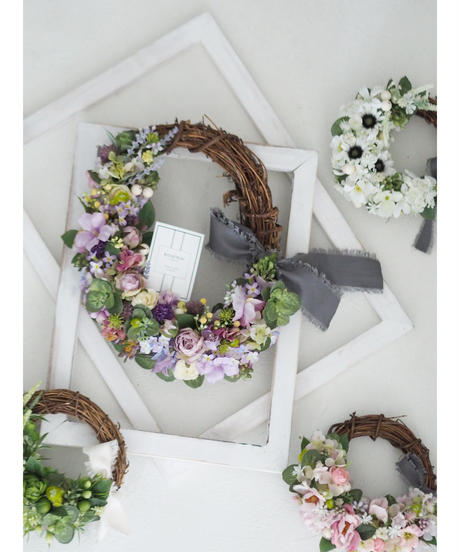 Mix Flower Wreath【Lessonキット】★☆☆