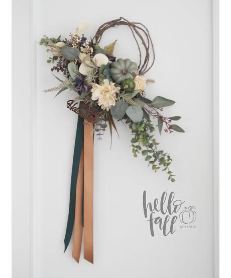 Hallo Fall2021'  Pumpkin Wreath【レッスンキット】★★☆