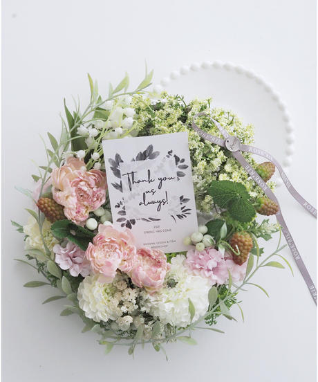 Spring FlowerWreath【レッスンキット】★☆ ☆