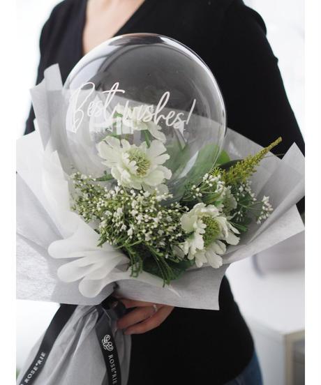 フラワーバルーン:お花お任せW×G【フラワーin 花束Type】