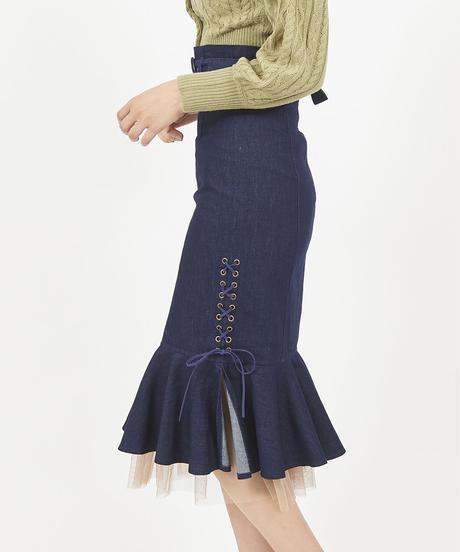 サイドスピンドルマーメイドスカート