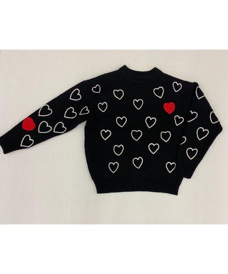 ChahChah  HEARTFUL HAND EMBROIDERY KNIT