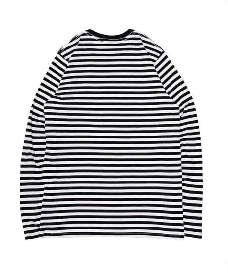 VIOLA&ROSES  CIRCLE LOGO PATCH STRIPE L/S TEE