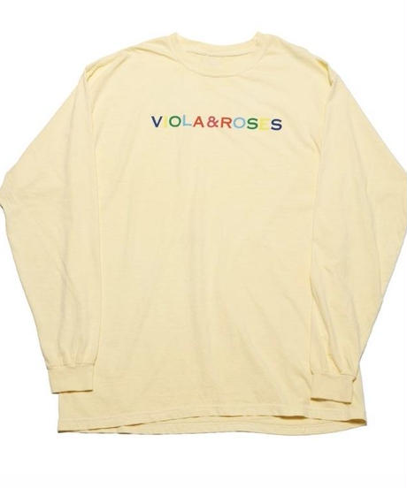 VIOLA&ROSES Multicolor Letters  L/S Tee