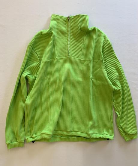 Ernie Palo Rib harf zip pullover