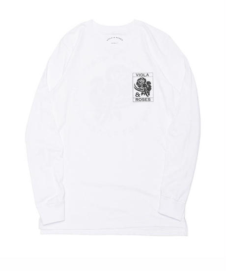 VIOLA&ROSES  CLASSIC No,001 BW L/S TEE