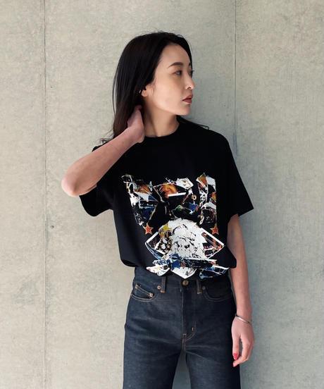 OUR LEGACY Box T-shirt moto print
