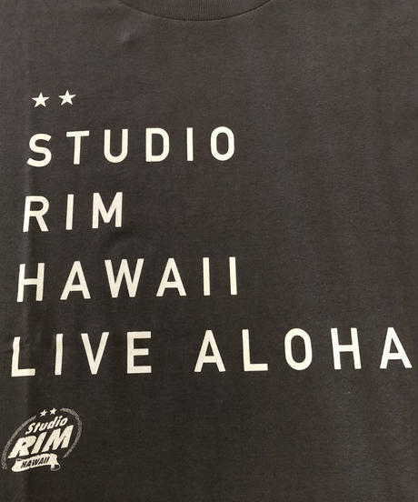 スタジオリムHAWAII Tシャツ タイポ柄 男女兼用