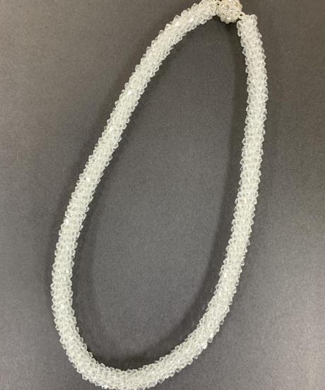ブリリアカットグラスピースマグネットネックレス