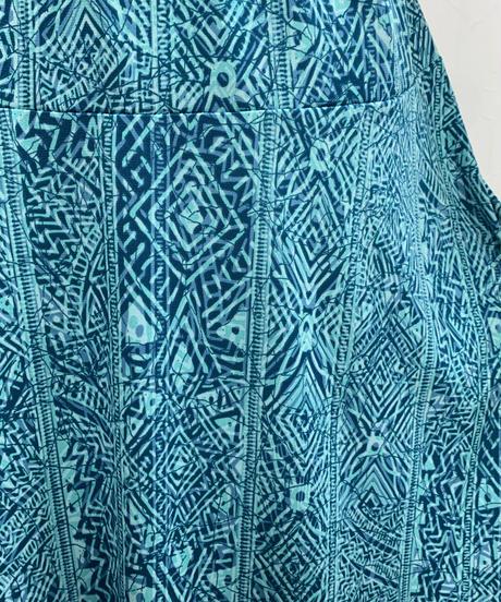 スパンデックスフレアースカート ブルーブラック