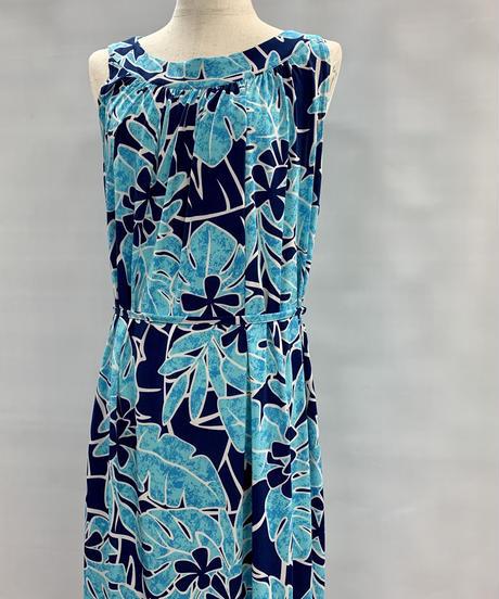 フリーサイズワンピース ブルー/ネイビー ハワイアンファクトリー