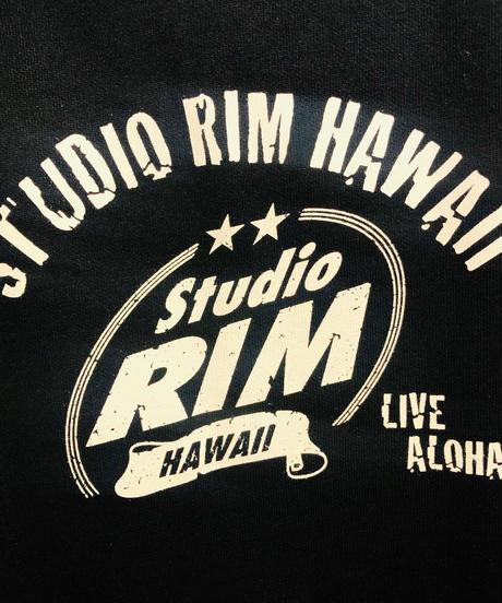 スタジオリムHAWAII フーディビンテージロゴ ネイビー