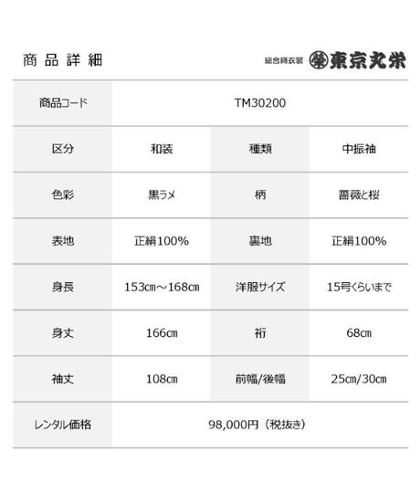 [レンタル] 中振袖 TM30200